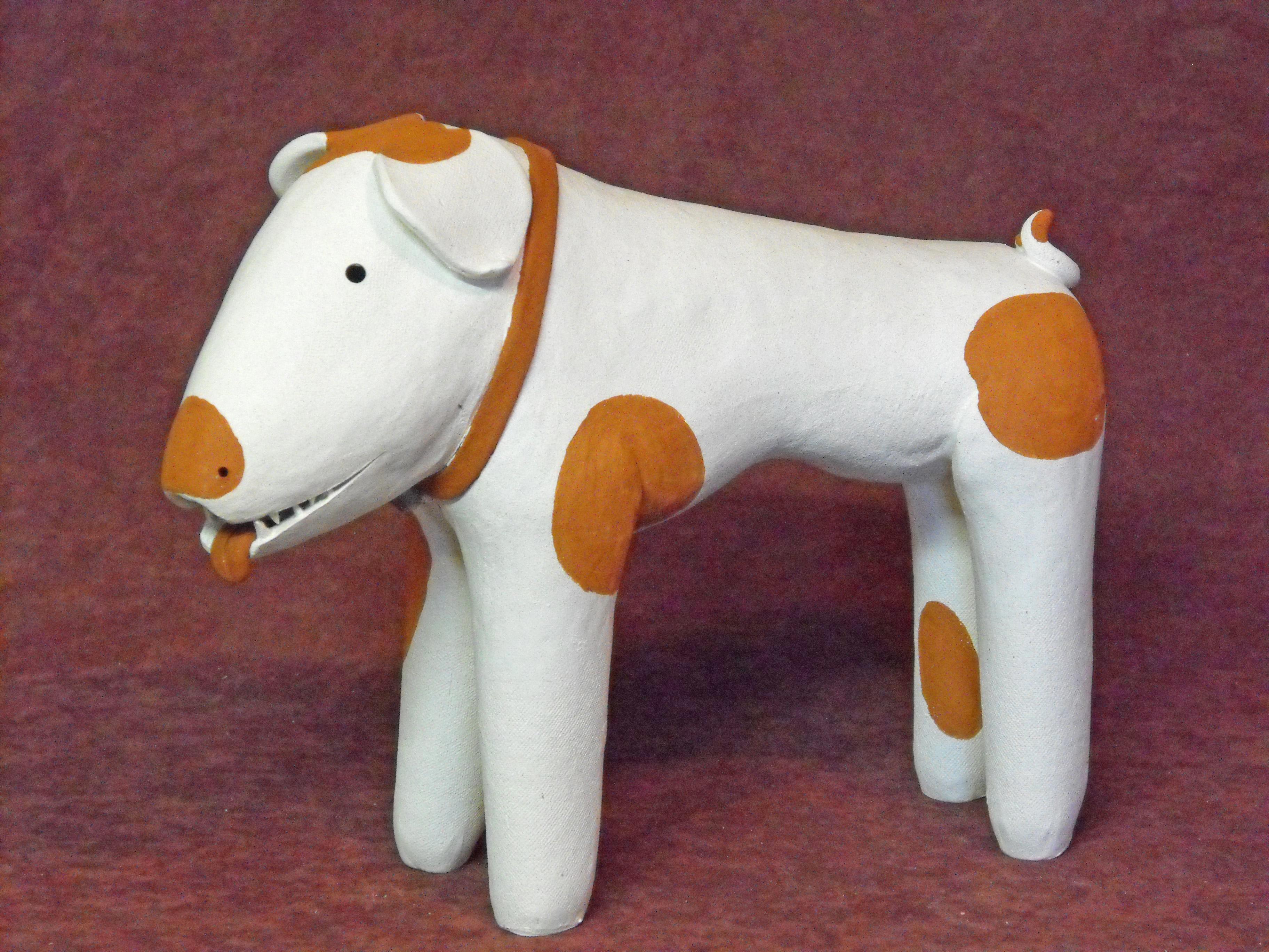 Haniwa style dog