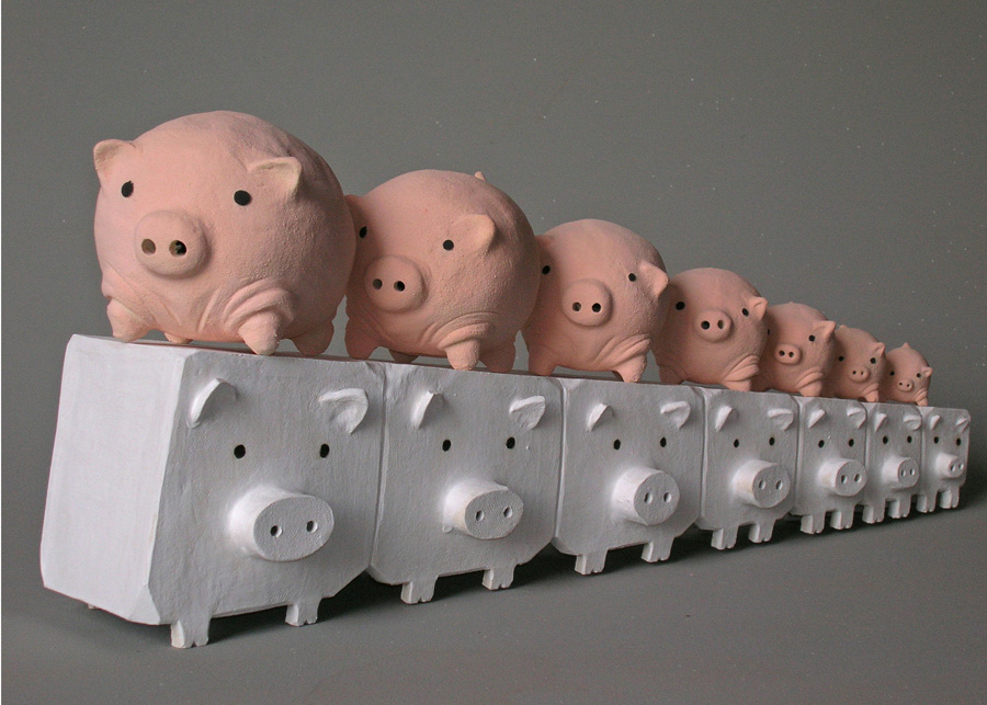 Piggies Marching on