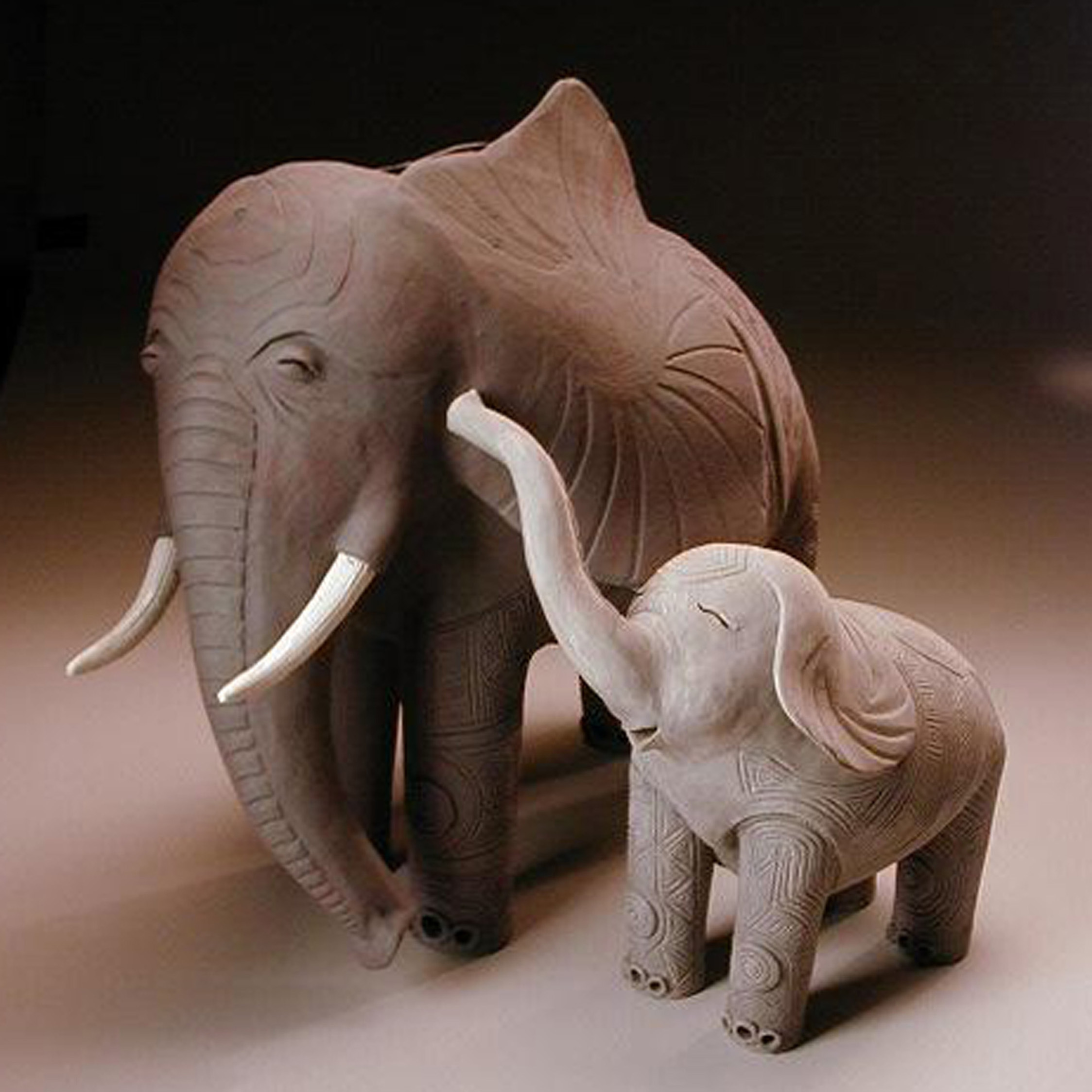 Elephants ( Mother & Child )