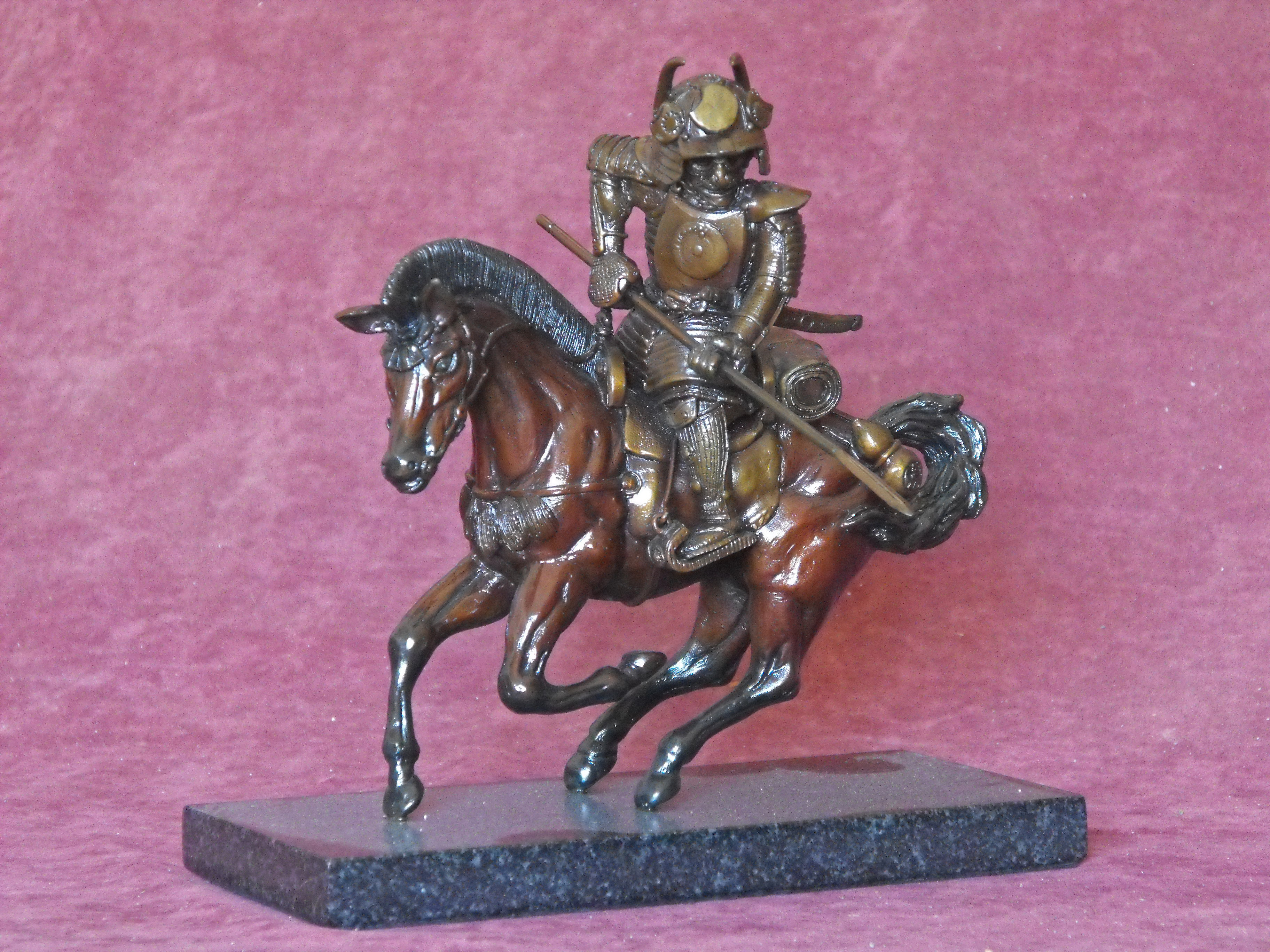 Bronze mounted warrior